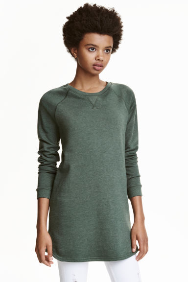 Sweatshirt dress - Khaki green - Ladies | H&M CN 1
