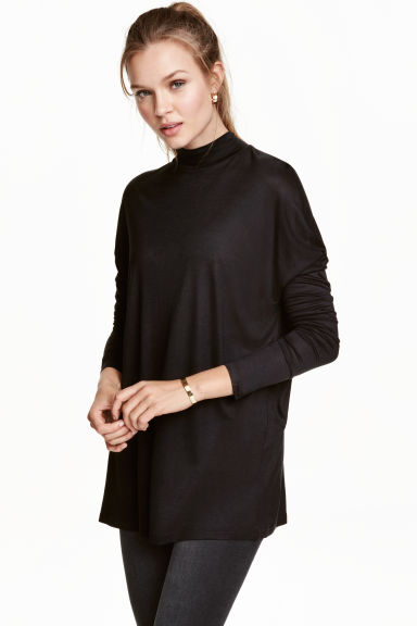 Turtleneck top in jersey Model
