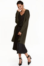 Long cardigan - Dark green marl -  | H&M CA 1