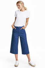 Denim culottes - Navy blue/Striped - Ladies | H&M GB 1