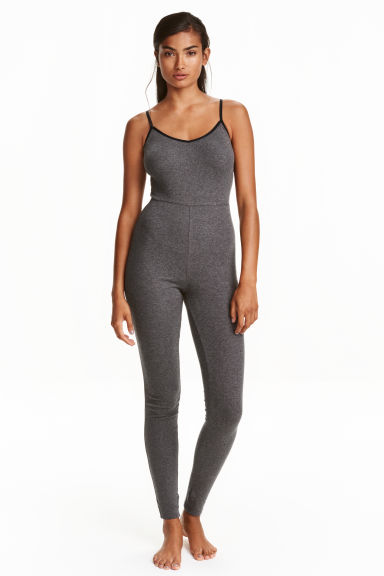 Jersey jumpsuit - Dark grey marl - Ladies | H&M CN