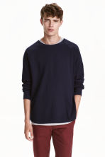 Top with raglan sleeves - Dark blue - Men | H&M CN 1