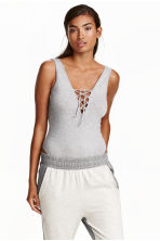 Body with lacing - Grey marl - Ladies | H&M CN 1