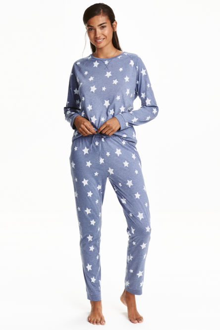 Patterned pyjamas