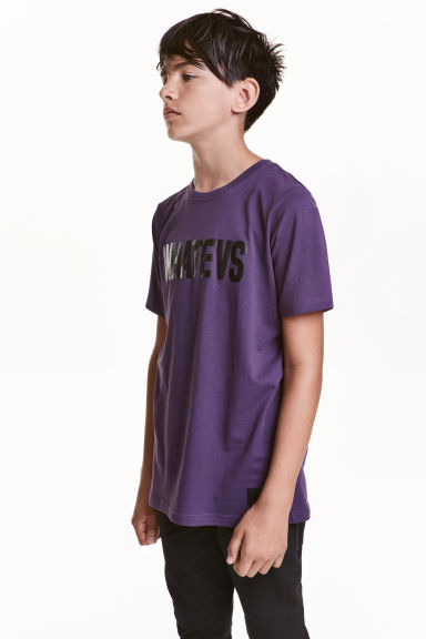 Printed T-shirt - Translucent - Kids | H&M CN 1