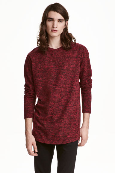 Pull en maille fine - Rouge chiné - HOMME | H&M FR 1