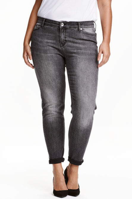 H&M+ Girlfriend Low Jeans