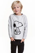 Sweatshirt with a motif - Grey/Snoopy - Kids | H&M CN 1