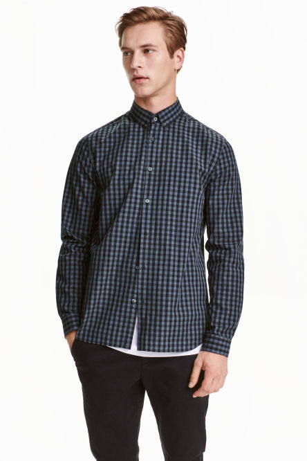 Shirt in cotton poplin