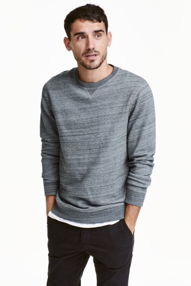 Sweat - Bleu gris chiné - HOMME | H&M FR