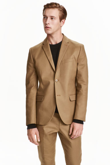 Cotton jacket - Dark beige -  | H&M CN