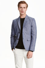 Cotton jacket Slim fit - Blue -  | H&M GB 1