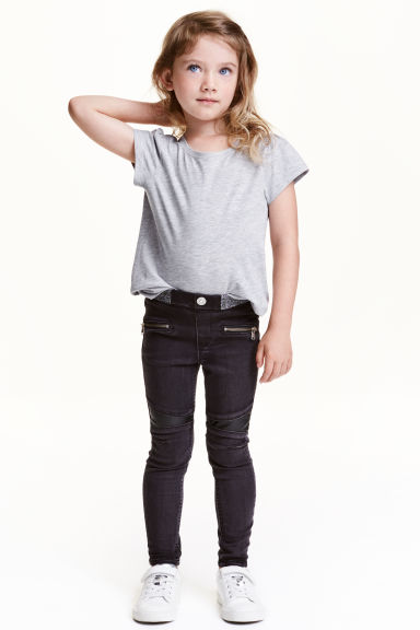 Treggings - Nero Washed out - BAMBINO | H&M IT 1
