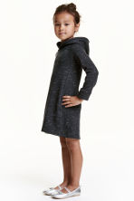 Sweatshirt dress - Black marl - Kids | H&M CN 1