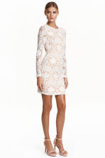 Lace dress - Natural white -  | H&M CN 1