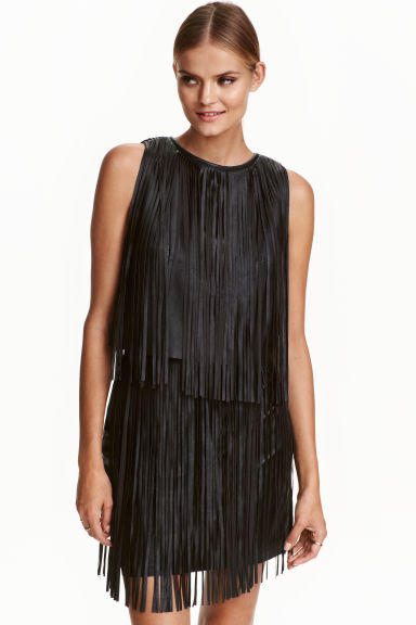 Fringed top - Black - Ladies | H&M CN 1