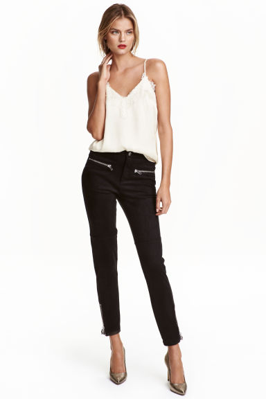 Biker trousers - Black - Ladies | H&M CN 1