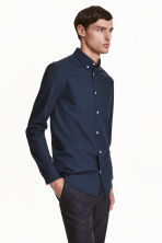 Camicia oxford cotone premium - Blu scuro - UOMO | H&M IT 2