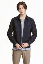 Denim shirt jacket - Dark blue - Men | H&M CA 1