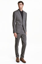Suit trousers Slim fit - Black/White marl - Men | H&M CN 1