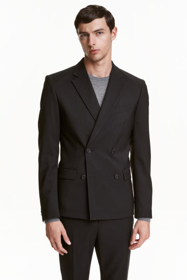 Wool blazer Slim fit - Black - Men | H&M CA 1