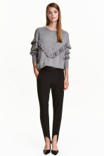 Stirrup trousers - Black - Ladies | H&M CN 1