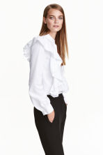 Frilled blouse - White - Ladies | H&M IE 1