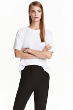 Top in slub jersey - White - Ladies | H&M CN 1