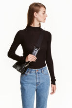 Ribbed top - Black - Ladies | H&M CN 1