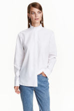 Shirt with a frilled collar - White - Ladies | H&M CN 1