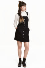 Denim dungaree dress - Black - Ladies | H&M 2