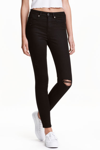 Skinny High Ankle Jeans - Black - Ladies | H&M GB 1