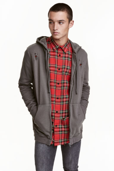 Hooded jacket Trashed - Dark mole  - Men | H&M CN 1