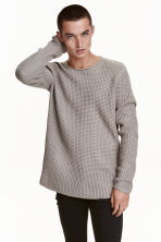 Textured-knit jumper - Mole-grey - Men | H&M 2