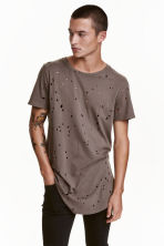T-shirt trashed - Dark mole  - Men | H&M CN 1