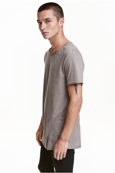 T-shirt - Dark grey marl - Men | H&M CN 1
