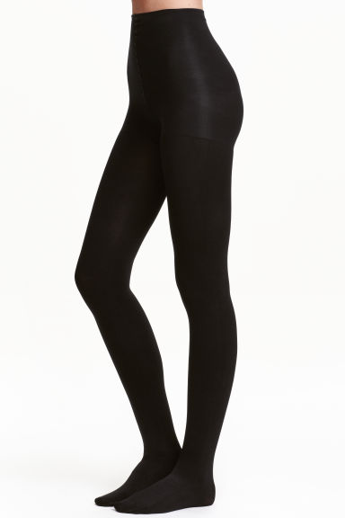 200 denier Control top tights - Black - Ladies | H&M CN 1