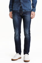 Skinny Low Jeans - Dark blue washed out - Men | H&M CN 1