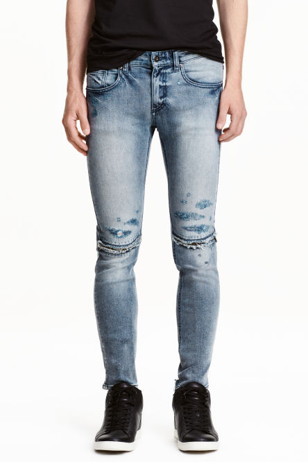Super Skinny Zip Jeans