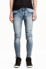 Super Skinny Zip Jeans - 牛仔蓝 - 男士 | H&M CN 1