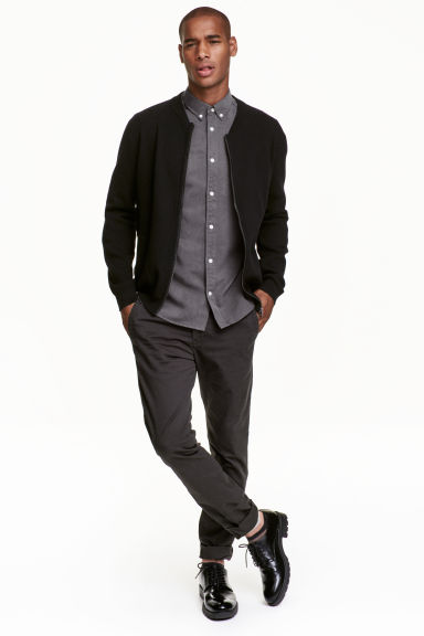 Chinos Skinny fit - Anthracite grey - Men | H&M GB