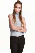 Top senza maniche a collo alto - Grigio mélange - DONNA | H&M IT 1