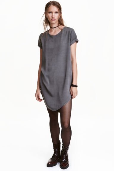 Viscose dress - Dark grey - Ladies | H&M CN 1