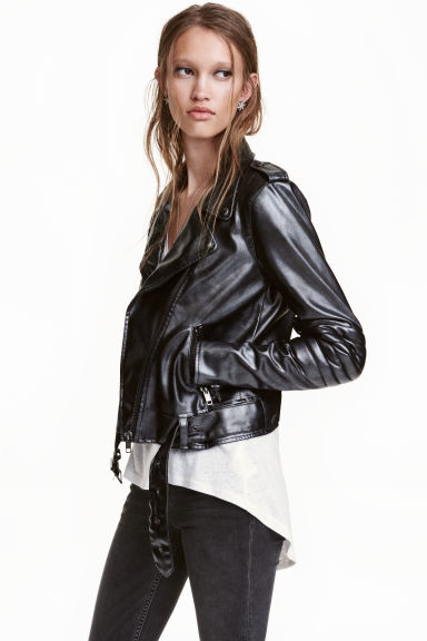 Biker jacket - Black - Ladies | H&M GB 1