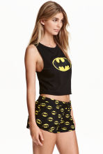 Pyjamas with top and shorts - Black/Batman - Ladies | H&M CN 2