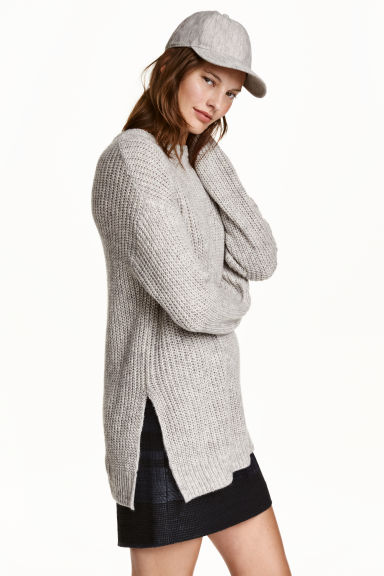 Oversized jumper - Light grey marl - Ladies | H&M CN 1