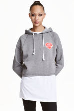 Short hooded top - Grey marl - Ladies | H&M CN 1