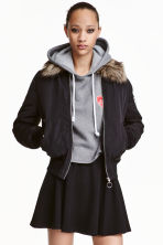 Bomber con colletto - Nero -  | H&M IT 1