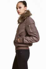 Bomber jacket with collar - Brown -  | H&M CN 1