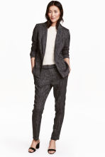 Suit trousers - Black/White marl - Ladies | H&M CA 1